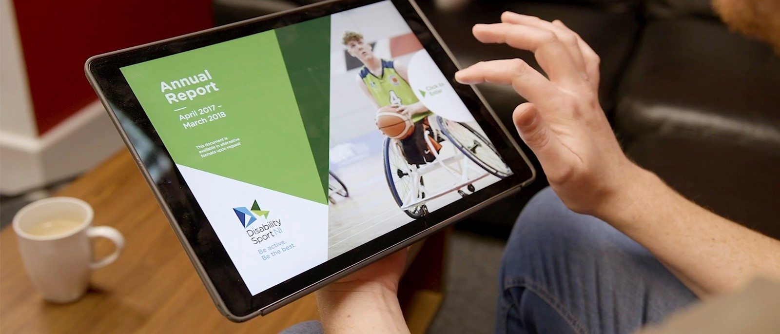Disability Sport NI annual report goes interactive...
