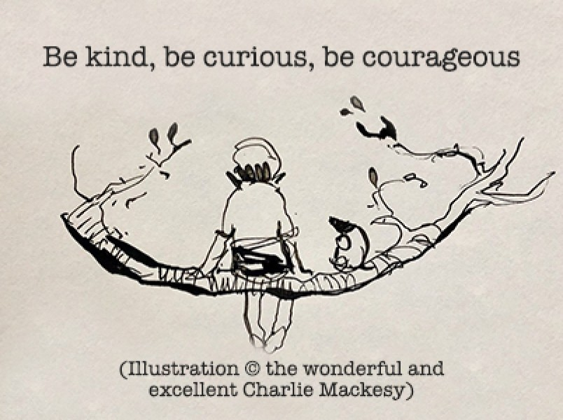 Be kind, be curious, be courageous... thumbnail